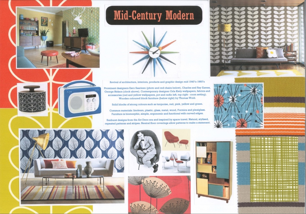 Mid-Century has regained popularity in recent years, with contemporary designers taking inspiration from its bold and colourful style. Iconic furniture and accessories are still reproduced today to cater for a demand for Retro design.